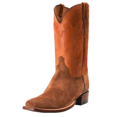 Lucchese Men's Tulip Honey Suede Western Boots