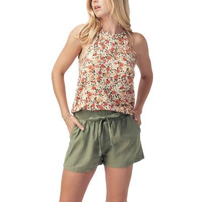 Women's Floral Print Halter Tank Top