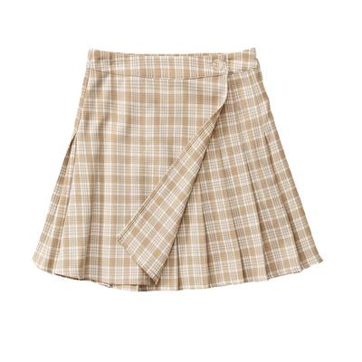 Women's Plaid Pleated Mini Skirt