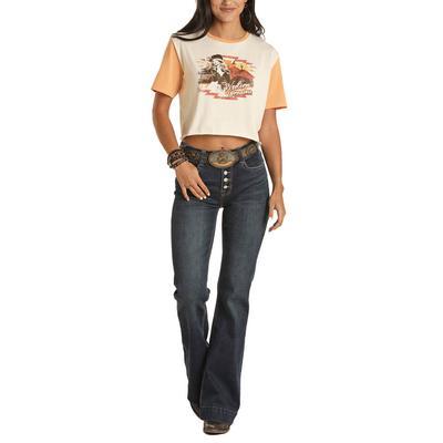 Rock&Roll Women's Western Dream Graphic T-Shirt