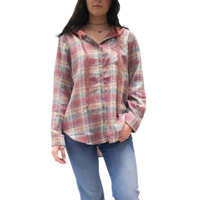 Women's Plaid Button-Down Jacket