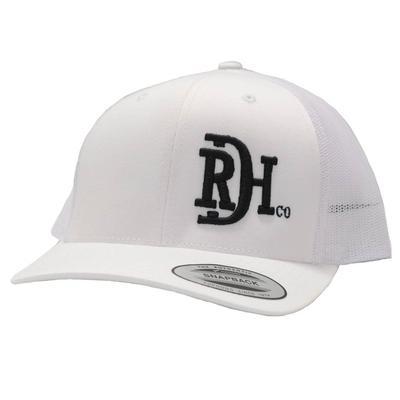 Red Dirt Hat Co.'s Black Logo White Cap