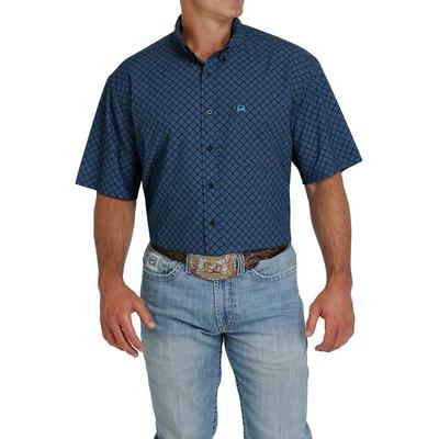 Cinch Men's Blue and Black ArenaFlex Shirt
