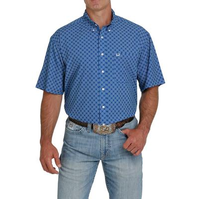 Cinch Men's Royal and Cream ArenaFlex Shirt