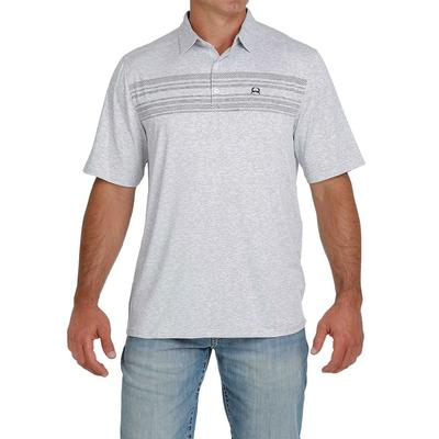 Cinch Men's Heather Grey ArenaFlex Polo Shirt