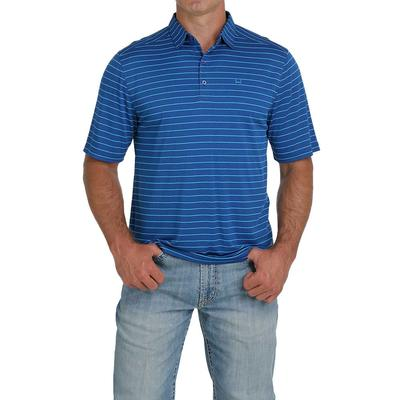 Cinch Men's Royal and Turquoise ArenaFlex Polo Shirt