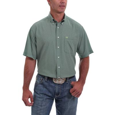 Cinch Men's Green and White ArenaFlex Shirt