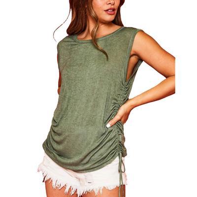 Women's Side Smocked Sleeveless Top