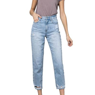 Women's Premium High Rise Tapered Jeans