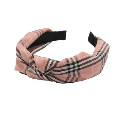 Ladies Pink and Plaid Headband