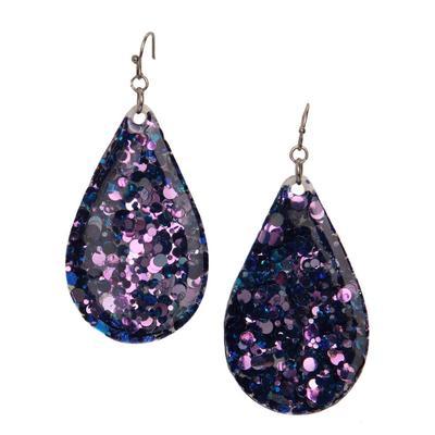 Women's Glitter Teardrop Earrings