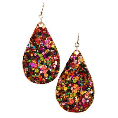 Sequins Teardrop Glitter Earrings