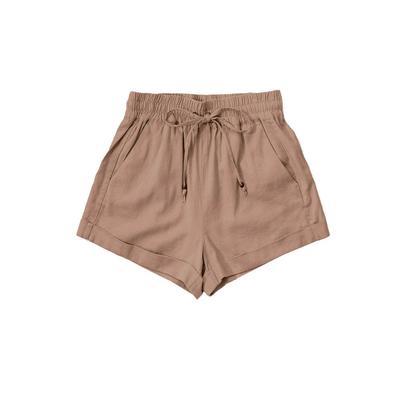 Women's Drawstring Linen Shorts