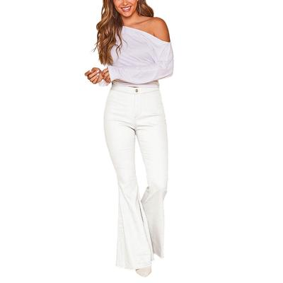 Peach Love Women's Star Back Bell Bottom Flare Jeans