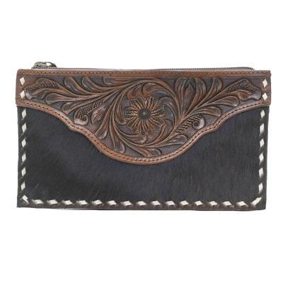 American Darling Tooled Leather Clutch
