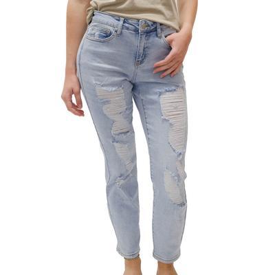 Judy Blue Women's Mid Rise Boyfriend Jeans
