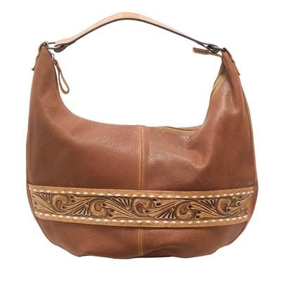 American Darling Leather On Leather Tooled Belt Purse