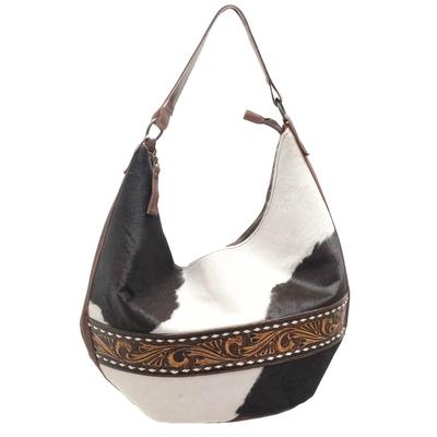 American Darling Cowhide And Tooled Belt Purse