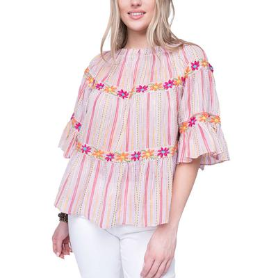 Ivy Jane Women's Layers of Stripes Top