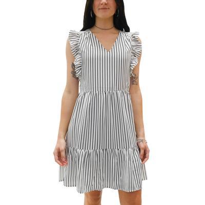 Jade Women's Striped V-Neck Dress