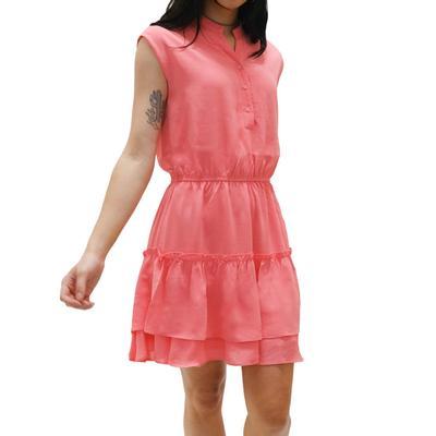 Joy Joy Women's Tiered Coral Dress
