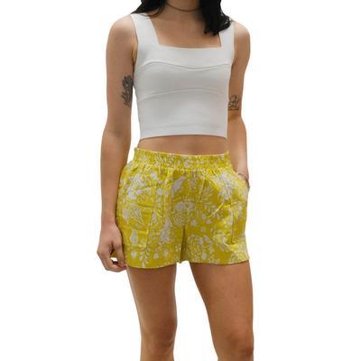 Joy Joy Women's Mustard Pull-On Shorts