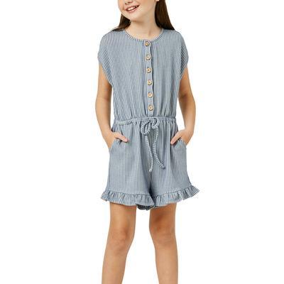 Hayden Girl's Button-Up Romper