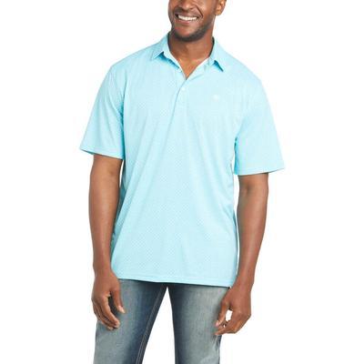 Ariat Men's Miami Aqua Fashion Printed Polo