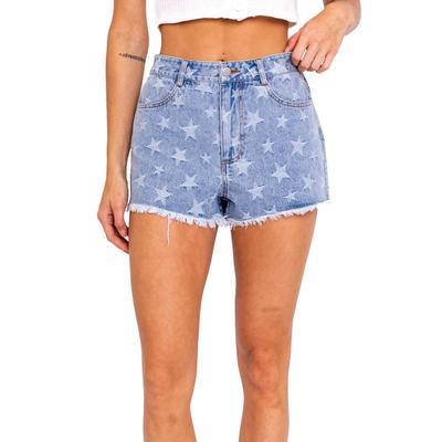 Women's Star Print Denim Shorts