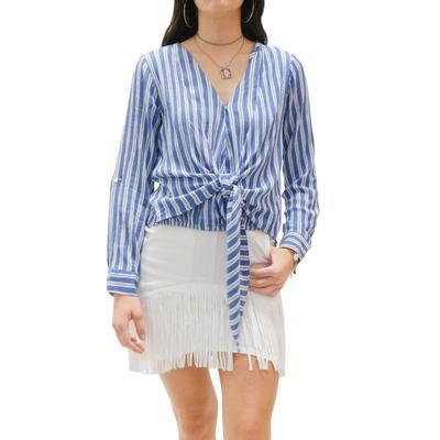 Elan Women's Front Tie Wrap Top