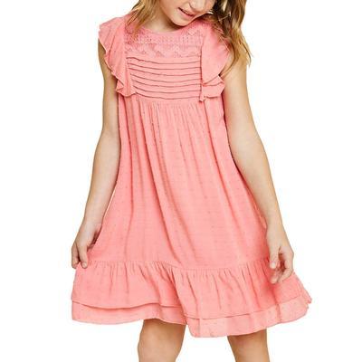 Hayden Girl's Dobby Ruffle A-Line Dress