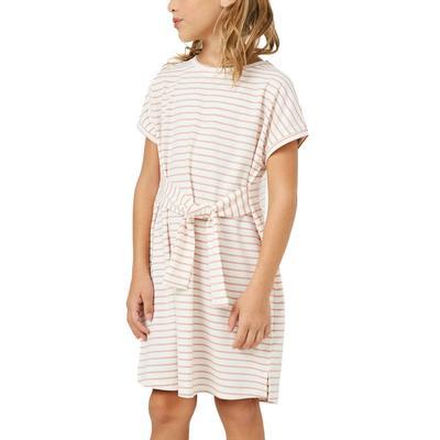 Hayden Girl's Striped Front Tie T-Shirt Dress