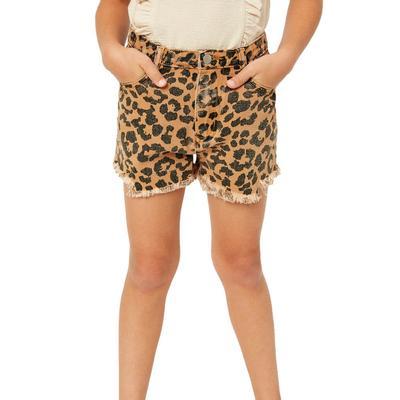 Hayden Girl's Leopard Print Shorts