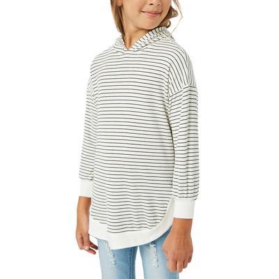 Hayden Girl's Ribbed Striped Hoodie