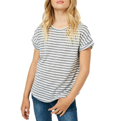 Hayden Girl's Drop Shoulder Striped Top