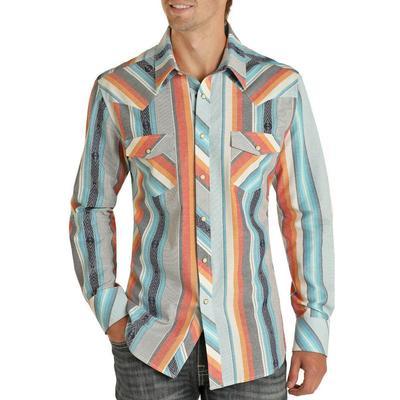 Panhandle Men's Southwestern Serape Snap Shirt