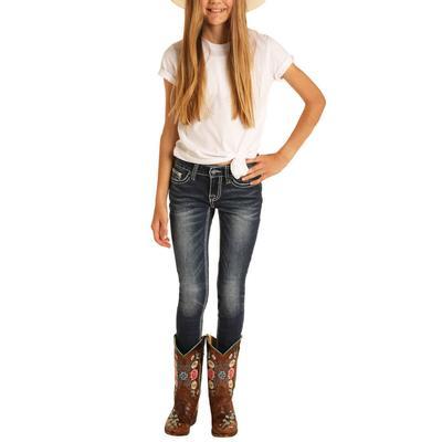 Panhandle Girl's Dark Vintage Skinny Jeans