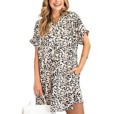 Women's Relaxed Leopard Mini Dress