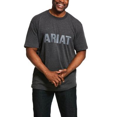 Ariat Men's Cotton Rebar Strong Block T-Shirt