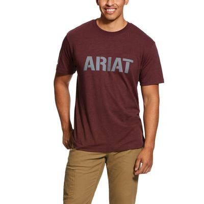 Ariat Men's Rebar in Red Cotton Strong Block T-Shirt