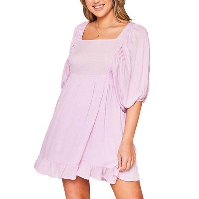 Peach Love Women's Relaxed Mutton Mini Dress