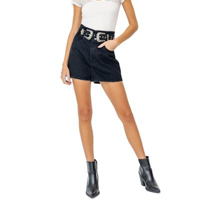 Women's High Waisted Buckle Shorts