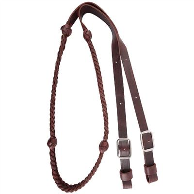 Braided Barrel Rein With Knots