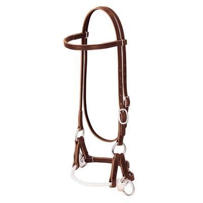 Deluxe Latigo Leather Side Pull Single Rope