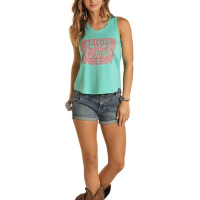 Rock&Roll Women's Tacos and Margs Graphic Tank Top
