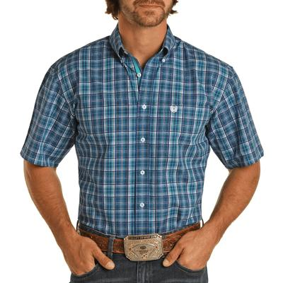 Panhandle Men's Plaid Short Sleeve Button Down