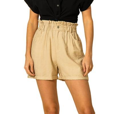 Hyfve Women's High Waisted Paper Bag Shorts