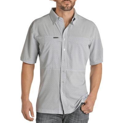 Panhandle Men's Grey Performance Fishing Shirt