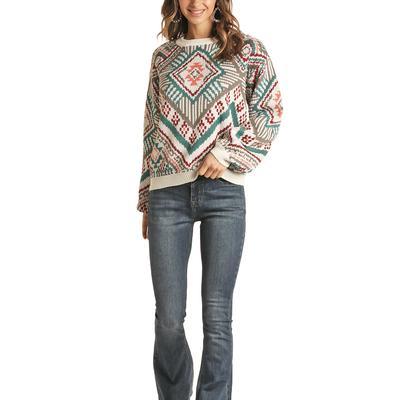 Rock&Roll Women's Aztec Printed Sweater