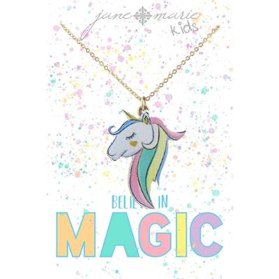 Jane Marie Girl's Unicorn Necklace